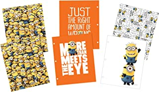 Avery Despicable Me 2-Pocket Folders, 3-Hole Punched, 100-Sheet Capacity, 3 Minions Designs, 6 Folders (47934)
