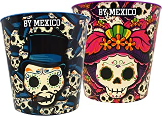 By Mexico bote para palomitas modelo Catrin y Catrina set de 2