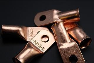 4 Gauge Copper 3//8 Ring 10 PK W//HEATSHRINK RED//Black Lug Battery Terminal Connector AWG CUR438 ENNIS ELECTRONICS