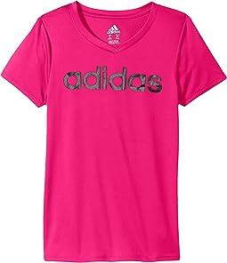 adidas Kids - Short Sleeve V-Neck Top (Big Kids)