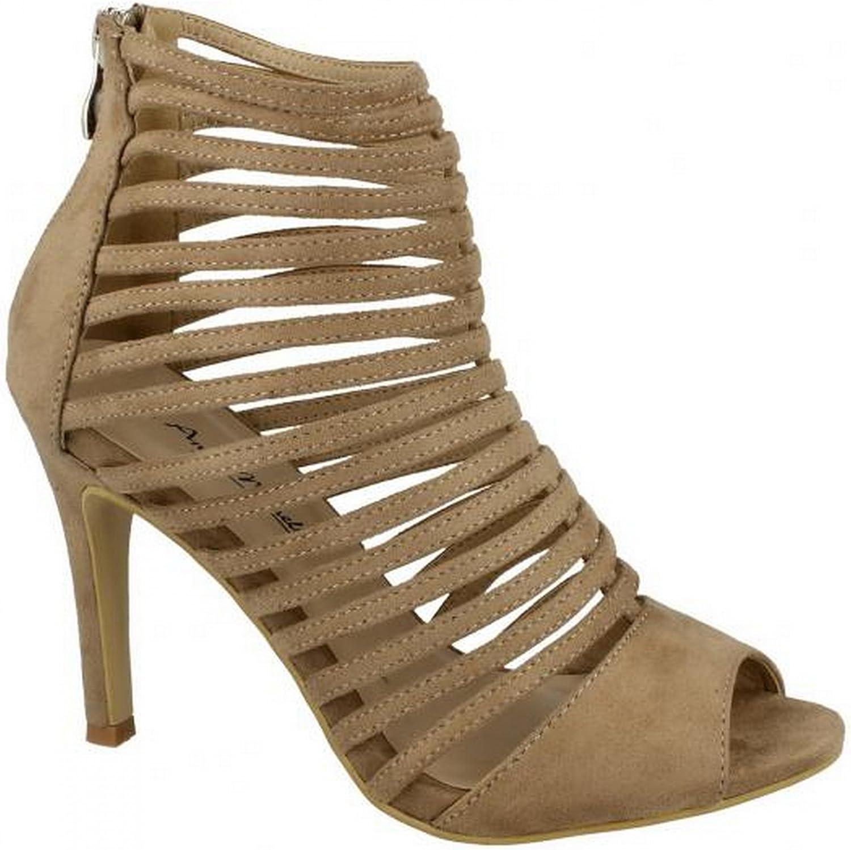 Anne Michelle Womens Ladies Peep Toe Strappy High Heels