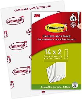 Languettes Accroches Tableaux pour Cadres Fins Command, Blanc, PH207-14EU