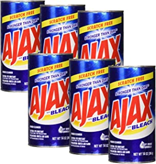 Ajax Powder Cleanser with Bleach, 14 oz (396 g), Pack of 6