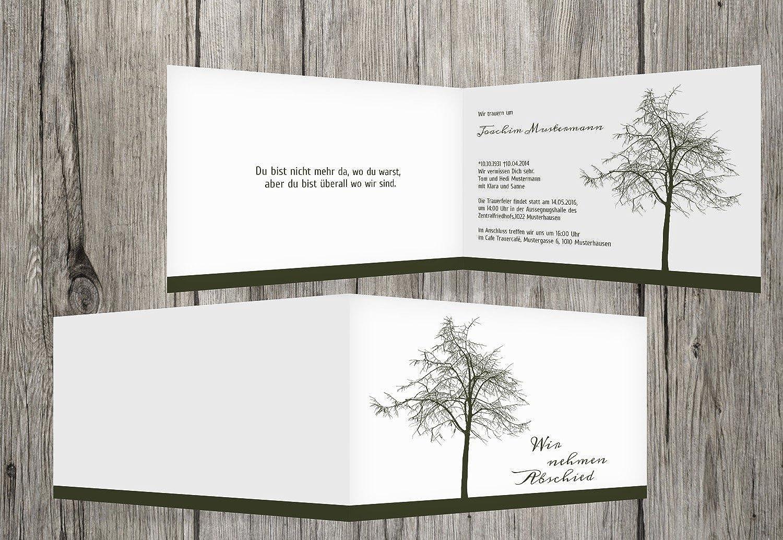Tarjeta de luto Tree, dunklesverde, 80 Karten Karten Karten  Envio gratis en todas las ordenes