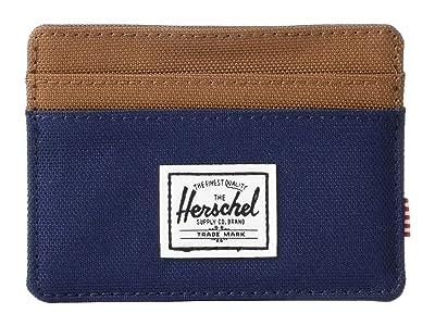 Herschel Supply Co. Charlie RFID (Peacoat/Saddle Brown) Wallet Handbags