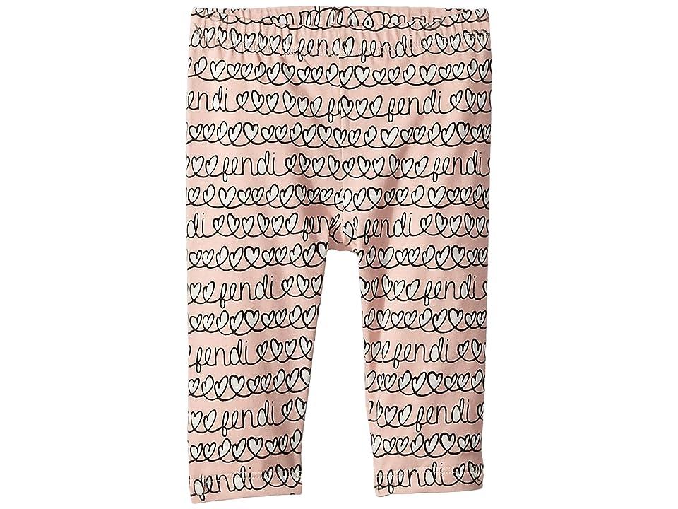 Fendi Kids - Fendi Kids All Over Heart Print Leggings