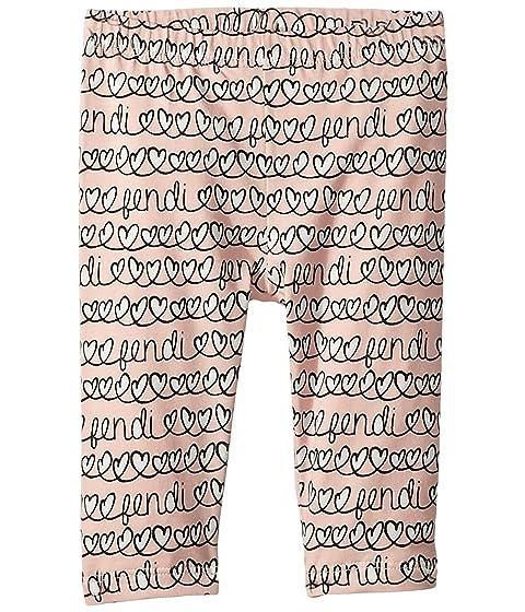 Fendi Kids All Over Heart Print Leggings (Infant)