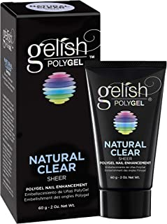 Hand & Nail Harmony Gelish Polygel Nail Enhancement, Natural Clear Sheer Shade, 2 Ounce