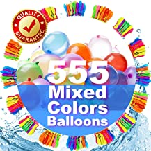 Pretty Water Balloons for Kids Girls Boys Balloons Set Party Games Quick Fill 555 Balloons 15 Bunches for Swimming Pool Ou...