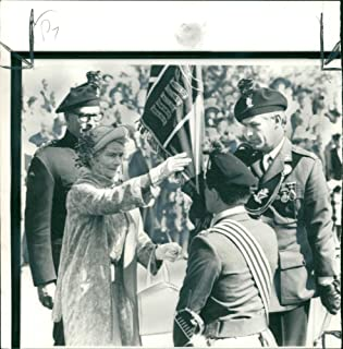 Vintage photo of Princess Alice, with the volunteer of the royal irish rangers.