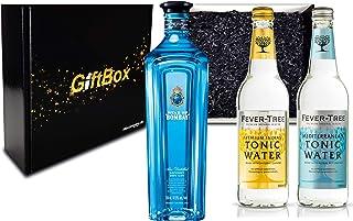 Gin Tonic Set Giftbox Geschenkset - Star of Bombay Slow Distilled London Dry Gin 0,7l 47,5% Vol  2x Fever Tree Tonic Water Mix je 500ml -Enthält Sulfite - Inkl. Pfand MEHRWEG