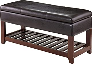 Winsome 94143 Monza Bench with Storage Chest, Brown