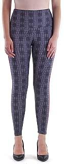 Women's Plus Size Leggings Checkered Plaid with Side Stripes (1x, 2X, 3X)