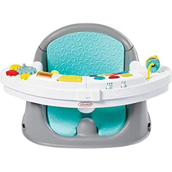 Infantino Music & Lights 3-in-1 Discovery Seat and Booster - Convertible Booster, Infant Activity seat and Feeding Chair with Electronic Piano for Sensory Exploration, for Babies and Toddlers