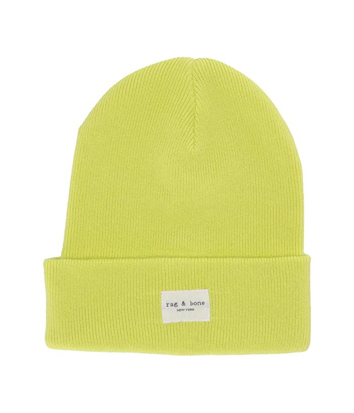 rag and bone  Addison Beanie (Lime Green) Caps