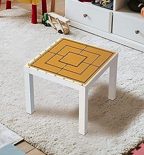 MyMaxxi Film autocollant pour meubles - Pour table laquée IKEA - 55 x 55 cm - Pour chambre d'enfant, table de jeu, jeux de...