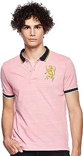Giordano Men's 01018222 3D Lion Multi-color Embroidery Polo