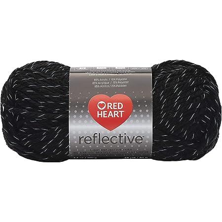 Coats: Yarn Red Heart Reflective Yarn-Black, Other, Multicoloured, 10.89 x 8.98 x 20.41 cm