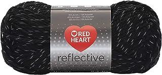 Coats Yarn Red Heart Reflective Yarn-Black, Other, Multicoloured, 10.89 x 8.98 x 20.41 cm