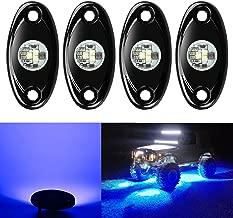 4 Pods LED Rock Lights, Ampper Waterproof LED Neon Underglow Light for Car Truck ATV UTV SUV Jeep Offroad Boat Underbody Glow Trail Rig Lamp (Blue)