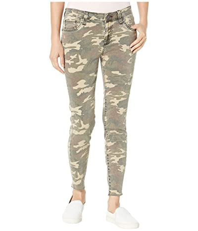 KUT from the Kloth Connie Ankle Skinny with Raw Hem in Olive (Olive) Women