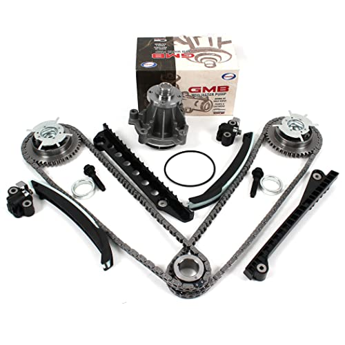 /& Fel-Pro Timing Cover Gasket Seal Set for 05-13 Ford 5.4L Both Left /& Right CNS TK3060-VVTTCS Timing Chain Kit Engine Expedition F-150 F-250 /& F-350 Super // Lincoln Camshaft Phasers 3-Valve