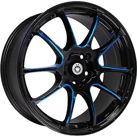 "Konig Illusion Black Ball Cut Blue Wheel (17x7""/5x114.3mm)"