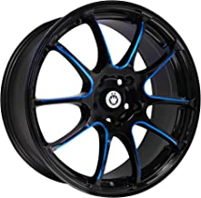 Konig Illusion Black Ball Cut Blue Wheel (18x8