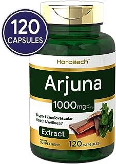 Horbaach Arjuna Standardized 1000 mg 120 Capsules | Supports Heart Health | Non-GMO, Gluten Free | from Arjuna Bark Herb Extract