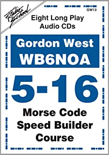 Morse Code Speed Builder Course for 5-16 WPM