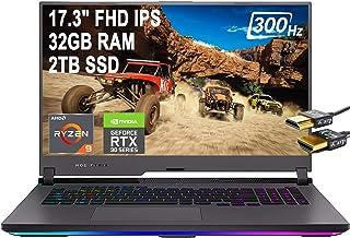 Flagship 2021 ASUS ROG Strix G17 ゲーミングノートパソコン 17.3インチ FHD IPS 300Hz 100% sRGB AMD Octa-Core Ryzen 9 5900HX 32GB RAM 2TB SS...