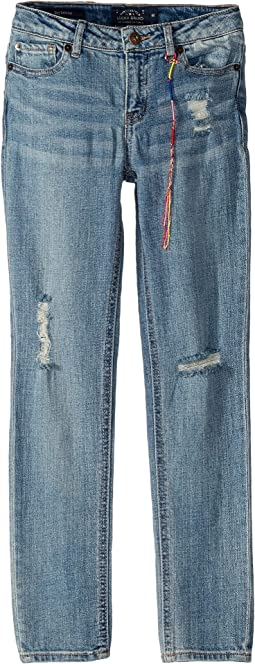 Giselle Rip and Repair Jeans in Kelly Wash (Big Kids)