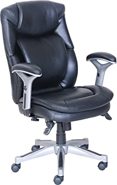 "Lorell 47920 Wellness da Design Chair, 44,3"" x 26,8"" x 30,5"" Preto"