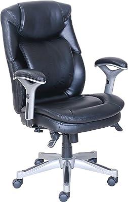"Lorell Wellness by Design Chair, 44.3"" x 26.8"" x 30.5"", Black"