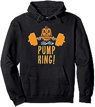 Pump King! The Weightlifting Pumpkin Halloween Gym Workout Pullover Hoodie
