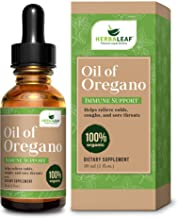HerbaLeaf Oil of Oregano Immune Defense, Helps Relieve Colds, Coughs, Sore Throats- Gut..