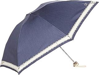 [ブラオ] AURORA(オーロラ) 東レ サマーシールド レトロシック デニム切継ぎレース カーボン軽量 UV遮光遮熱兼用おりたたみ傘