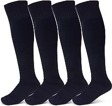 Raigoo Soccer Sock For Kids(4-11 Years Old), Sport Cushion Team Kneel High Socks For Youth Boys & Girls