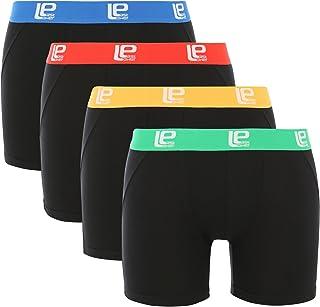 Lower East Boxer short da uomo soft comfort, confezione da 4