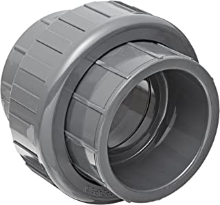 Spears 897 Series PVC Pipe Fitting, Union with EPDM O-Ring, Schedule 80, 2
