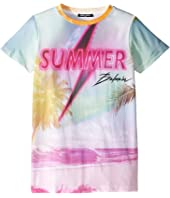 Balmain Kids - Short Sleeve Summer Balmain Tee (Big Kids)