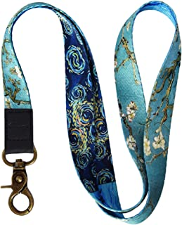 Crimmy Keychain Lanyard for Men Women - Lanyard Keychain with ID Holder - Premium Quality Neck Lanyard Strap with Metal Clasp (Vincent)