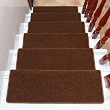 """Carpet Stair Treads Indoor and Outdoor Non-Slip Rubber Mats Stairway Carpet Rugs Anti Slip for Durable and Resistant 25""""x9..."""