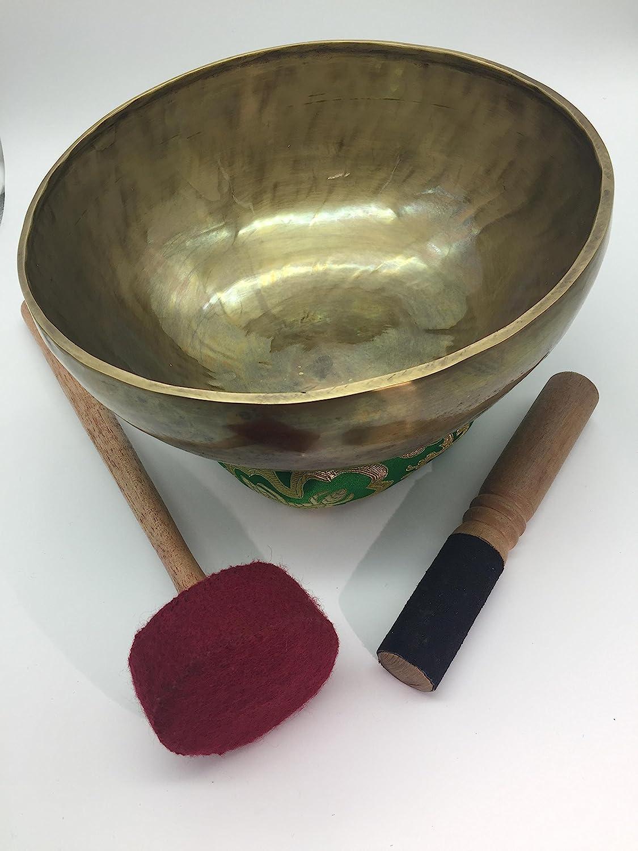Shambhala Arts & Handcrafts - Cuenco para canto de 25 cm, hecho a mano, diseño de artesanos nepalíes