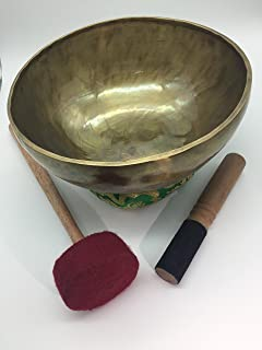 "10"" handmade Himalayan singing bowl, hand beaten by Nepali artisans to make magical tones by Shambhala Arts & Handcrafts"
