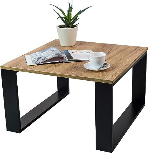 Clif – Wohnzimmer Couchtisch Modern Wohnzimmertisch Universal, 65 x 65 x 40 cm Smart Living Beistelltisch Kaffeetisch Rechteckiger Sofatish (Craft…