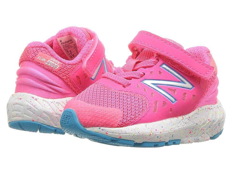 New Balance Kids KVURGv2I (Infant/Toddler) (Pink Zing/Polaris) Girls Shoes