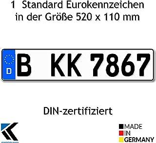 Antmas 1 Euro Kennzeichen   Kfz Kennzeichen DIN zertfiziert für Deutschalnd (520x110 mm)