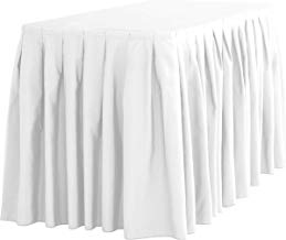 LinenTablecloth Accordion Pleat Polyester Table