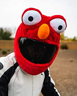 Red Monster Motorcycle Helmet Cover Sleeve, Funny Red Animal Full Face for Adults by Carbon Moto Gear D.I.L.L.I.G.A.F. Line